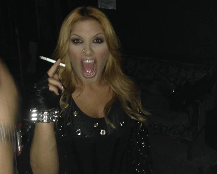 Έλενα Παπαρίζου - Κάπνισμα