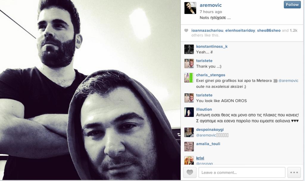 """Η selfie του Αντώνη Ρέμου με τον Παντελή Παντελίδη, και η... """"απάντηση"""" στις δηλώσεις του Νότη Σφακιανάκη!"""