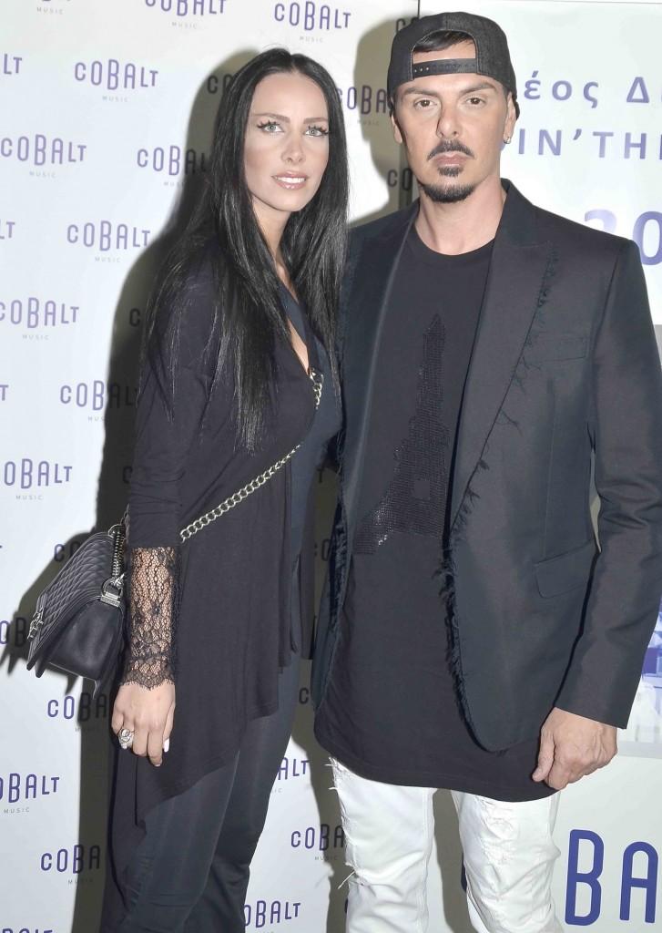Ο Νίκος Βουρλιώτης με τη σύζυγό του Όλγα Καρπαθάκη