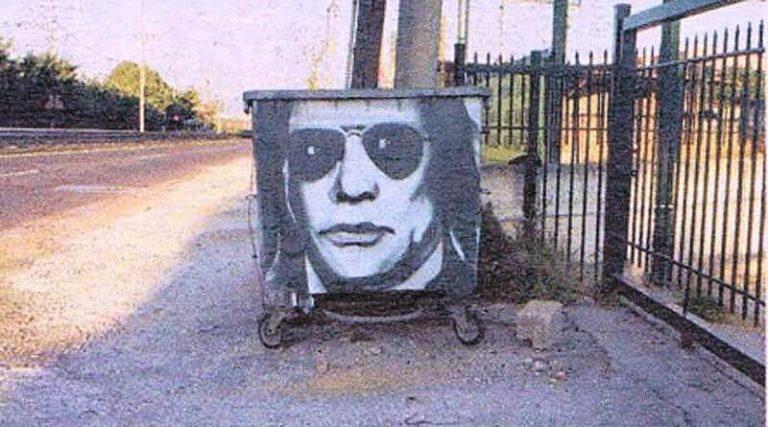 Ο Ηλίας Ψινάκης έγινε γκράφιτι